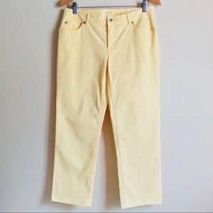 J.JILL Yellow Pants 6 Relaxed Fit Boyfriend Length